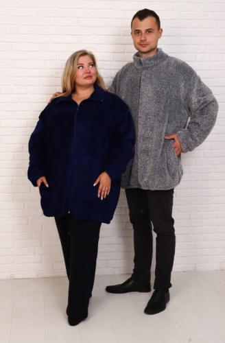 Куртка велсофт (ТГ-55) синяя (Россия) — размеры 66, 74, 76