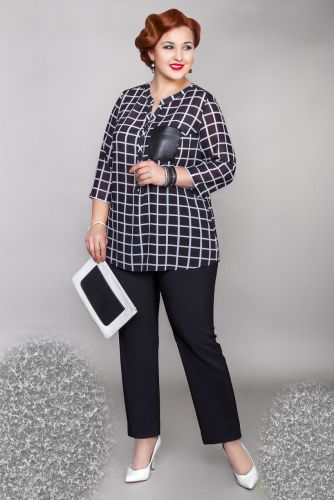 Брюки (17-m59-48/2) чёрный (Леди Шарм, Санкт-Петербург) — размеры 66, 68, 70, 72, 76